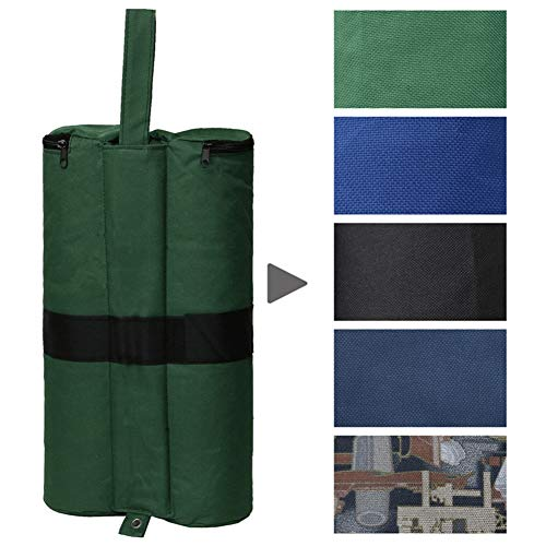 Canopy Sand Bag, 4Pcs 600D Heavy Duty Double-Stitched Weights Bag, Suitable for Garden Patio Backyard Shelter Gazebo Pop Up Tent (Green)
