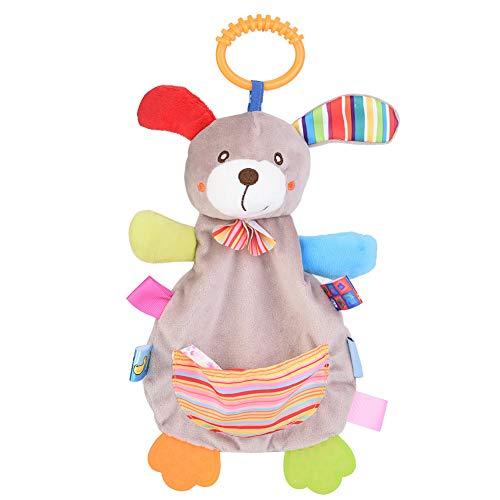 YOUTHINK Baby Sicherheitsdecke Beißring Spielzeug Handtuch für Baby Infant, Pacify Doll Toys für Neugeborene(EIN)