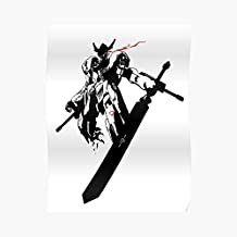 Gundam Barbatos - Glowing Eye Poster For Office Decor, College Dorm, Teachers, Classroom, Gym Workout And School Halloween, Holiday, Christmas Party ! Great Inspirational Wall Art Poster.