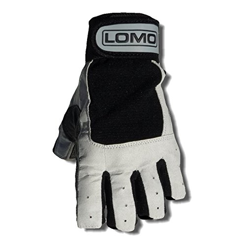 Lomo Halbfinger Segel-Handschuh., grau