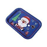 Banane Tablett Weihnachten Serviertablett Exquisite Muster Weihnachtsdekoration Obsttablett Eisenablage Santa Schneeflocke Rechteck Lebensmittel Snack Obsttablett Küchenteller