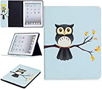 IPadのタブレットケース2nd / 3/4世代、かわいいパンダフクロウ蝶フラワーデザインタブレットスタンドカードスロットケースiPadと互換性のある2番目/ 3/4世代 (Color : 4)