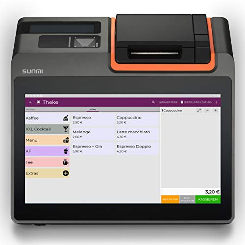 "Registrierkasse Kassensystem | Finanzamtkonform 2020 | TSE* | Kassensoftware ""LYNNE"" | integrierter Bondrucker | Gastronomie, Handel | GRATIS Ersteinrichtung des POS Terminal (T2 mini) WIFI"