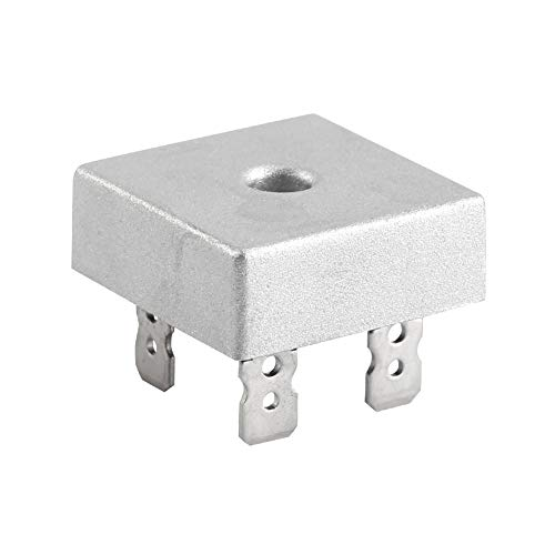 Brückengleichrichter, 50A 1000V KBSP5010 Einphasige Gleichrichter Diodenbrücke mit Metallgehäuse (10pcs)