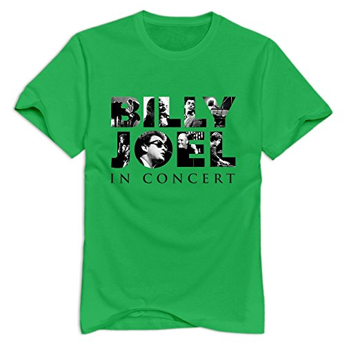 ForestGreen Ninva Billy Joel Logo 100% Cotton T Shirt For Man Size XL