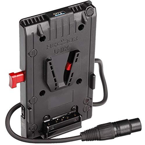 HEDBOX   UNIX-4X   Placa adaptadora de batería V-Lock/V-Mount, con 1x USB 5V / 2.1A y 3X D-Tap 14.8V / 148W Power out, Cable Extra de 20in / 50cm con Conector Hembra XLR de 4 Pines