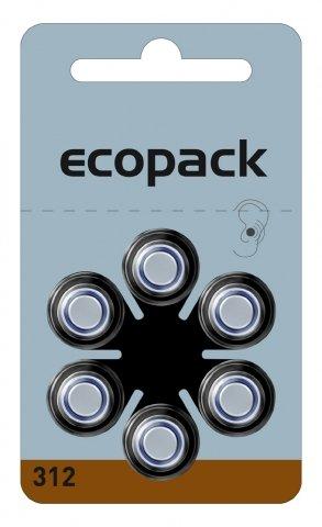 30 x Hörgerätebatterien Ecopack 312 Braun