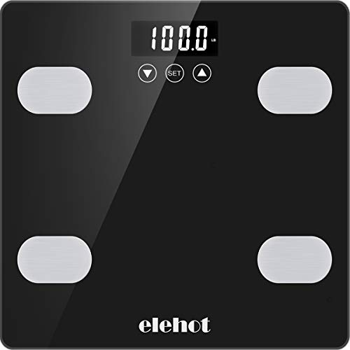 ELEHOT Digital Weight Scale, Bathroom Scale for Body Weight, BMI Muscle, Mass Water and Calorie Protein (11in)