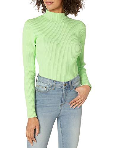 findersKEEPERS Damen Briggitte Slim Sweater Knit Pullover, grün, Mittel