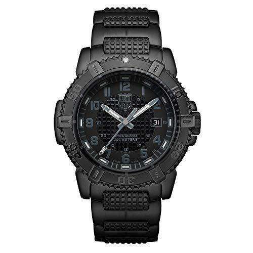 Luminox Outdoor Uhr Herren Modern Mariner Blackout (XS.6252.BO) Made in Schweiz, Schwarzes Gehäuse und Uhrband, 200m wasserdichte Uhr Taucher