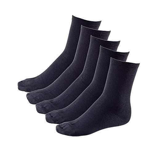 Natuurlijke 5xpaar Heren Sokken 100% Katoen Ademend en Dimensionaal Stabiel, Zwart, Top Kwaliteit Ha-00 - Zwart, 39-42