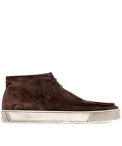 SANTONI Homme Sneakers sebaco - Marron - Cacao, 41.5 EU EU