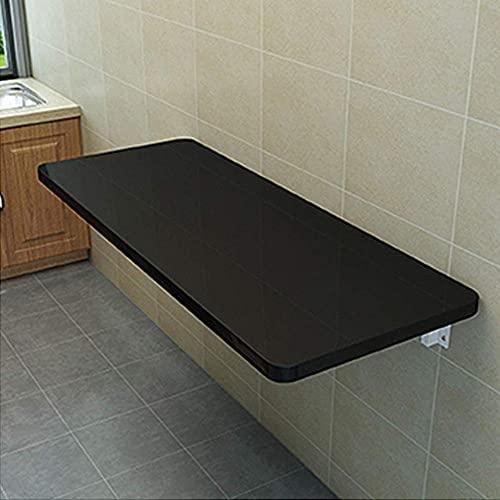 Consola de pared plegable multifuncional para la cocina, comedor, ordenador, escritorio, mesa de estudio, dormitorio infantil, guardería, color negro, 90 x 30 cm