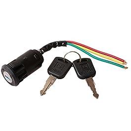 GOOFIT Block Starter interrupteur avec clé 3 fils d'allumage principaux remplacement pour 50cc 70cc 90cc 110cc 150cc…
