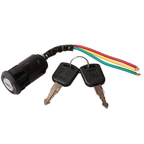 GOOFIT Block Starterschalter mit Schlüssel 3 Hauptzündkabeln Ersatz für 50cc 70cc 90cc 110cc 150cc 200cc 250cc Go Kart Dune Buggy Buggys ATV und Dirt Bike Teile