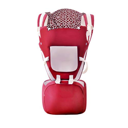 RSTJ-Sjef Baby carrier 6 months plus,Front hug Hip Seat,Four seasons baby carriers for hiking,Adapt to your child's growth, red
