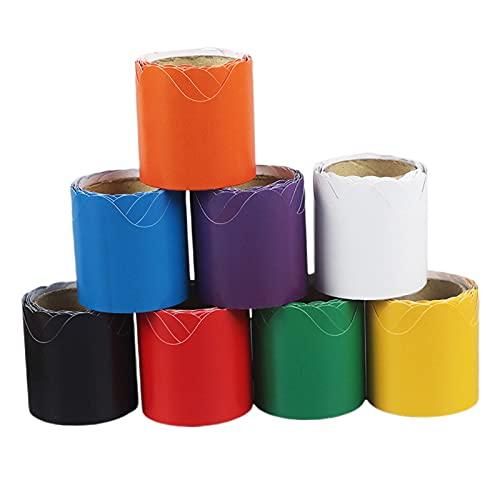 FITYLE Geschulpte prikbordranden, 8-pack, blauw, geel, groen, rood, zwart, wit, paars, oranje opgerolde randen…