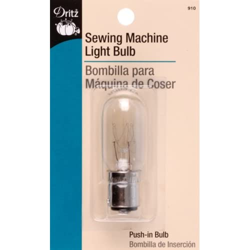 Dritz 910 Sewing Machine Incandescent Light Bulb, Push-In