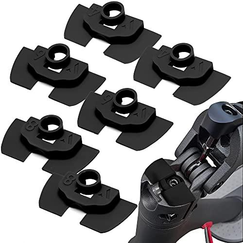 Vestigia® - Amortiguadores de Vibración de Goma 6 Piezas Para Xiaomi M365 1S Essential Pro Scooter Eléctrico - Accesorios de Goma Scooter - Piezas de Repuesto para E-scooter