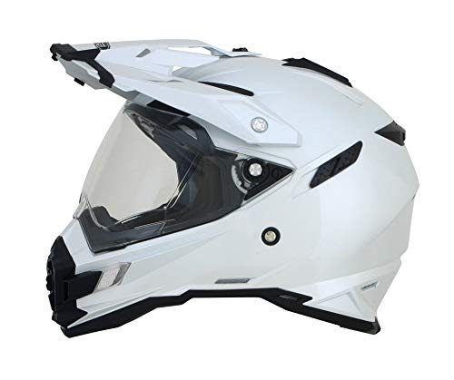 AFX FX-41DS Solider Helm, Geschlecht: Herren/Unisex, Helmtyp: Offroad-Helme, Helmkategorie: Offroad, unverwechselbarer Name: Perlweiß, Primärfarbe: Weiß, Größe: Md 0110-3750