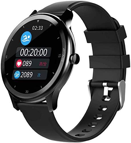 Reloj inteligente Health Fitness Tracker Smartwatch pantalla a color de 1,28 pulgadas pulsera inteligente hombres y mujeres DIY dial 24 modos deportivos IP68 impermeable-negro