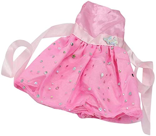 SLL Spielzeug Spielzeug Mode Paillette Sleeveless Partei-Kleid for 18-Zoll-AG-Mädchen-Puppen-Rosa 3pcs
