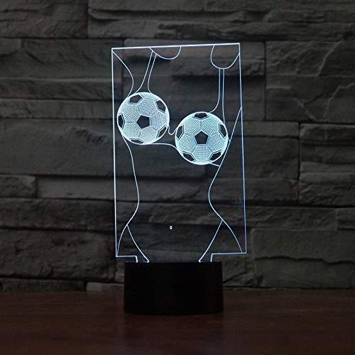 Touch Switch Decoratieve Lighting Atmosphere Kleurrijke USB Voetbal Girl Table Lamp 3D LED Night Light, Novel Gift