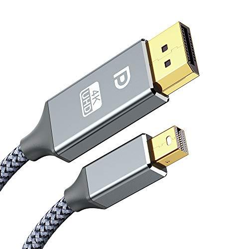 Mini DisplayPort auf Displayport Kabel 2M4K 60Hz2K144Hz Ultra HDMini DP auf DP KabelMini Displayport Thunderbolt Adapter kompatibel mit MacBook ProAir Mac ProSurface Pro und mehr