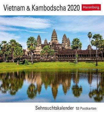 Vietnam & Kambodscha Sehnsuchtskalender - Kalender 2020 - Harenberg-Verlag - Postkartenkalender mit 53 heraustrennbaren Postkarten - 16 cm x 17,5 cm