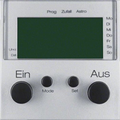 Hager b1 - Interruptor horario lcd con toma aluminio