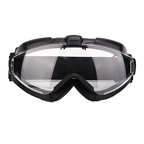 Gafas protectoras de TPU, antivaho, a prueba de viento, a prueba de polvo, para esquiar/aventuras al aire libre/carrera de paintball al aire libre, anteojos Lente de PC transparente