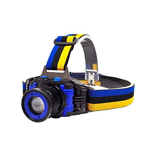 ZOUQILAI 5W Blendeaufladung Scheinwerfer Stufenlos fokussieren Scheinwerfer mit hoher Kapazität Nachtangeln Scheinwerfer Scheinwerferlampe