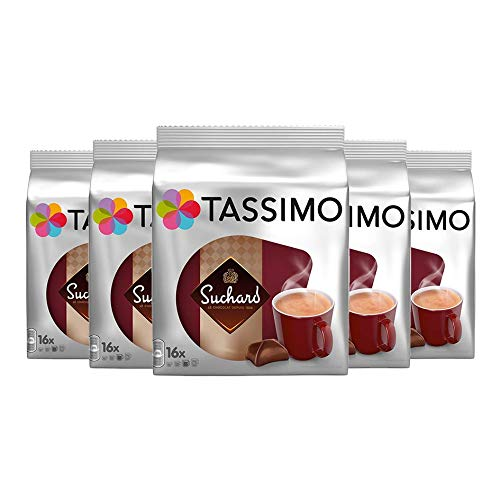 Tassimo Suchard Hot Chocolate 5 x Packs (80 Cups / Servings) 80 T Disc /Capsules by Tassimo