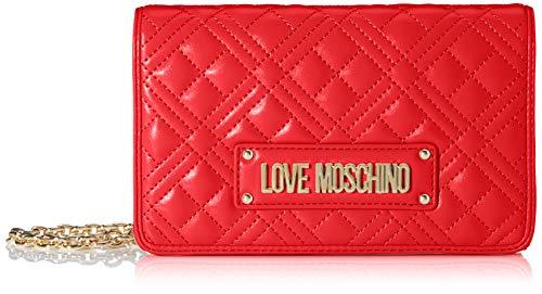 Love Moschino Damen Jc4010pp1a Handgelenkstasche, Rot (Rosso), 4x13x22 Centimeters