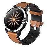 XYZK Orologio intelligente da uomo Fitness Tracker ossigeno frequenza cardiaca sfigmomanometro polso contapassi chiamata promemoria orologio da donna (per iOS Android) (F)