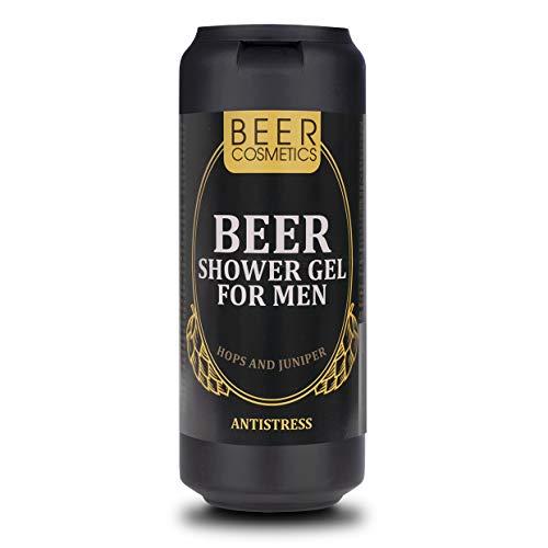 Bier Duschgel für Männer 400ml - Körperpflege - Duschgel mit Hopfenextrakt und Wacholderöl - alle Haartypen - Reinigung und Pflege - Duschgel in Bierdosen als Geschenk für Männer – Biergeschenksets