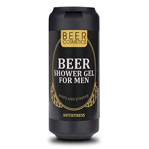Bier-Duschgel für Männer 400ml - Körperpflege - Duschgel mit Hopfenextrakt und Wacholderöl für alle Haartypen - Reparierende Formel - 2-in-1 - Reinigung und Pflege