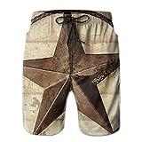 Pantaloncini da Spiaggia da Uomo torrefattori da caffè a Stella a Rapida ascesa Costumi da Bagno Costumi da Bagno Costumi da Bagno Costume da Bagno Corto, Taglia XXL