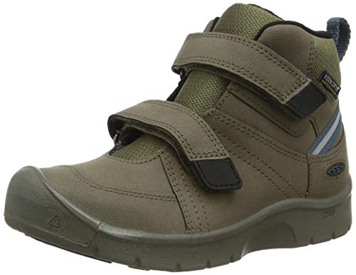 KEEN Hikeport 2 Mid Height Strap Waterproof Hiking Boot, Canteen/Balsam, 1 US Unisex Big Kid