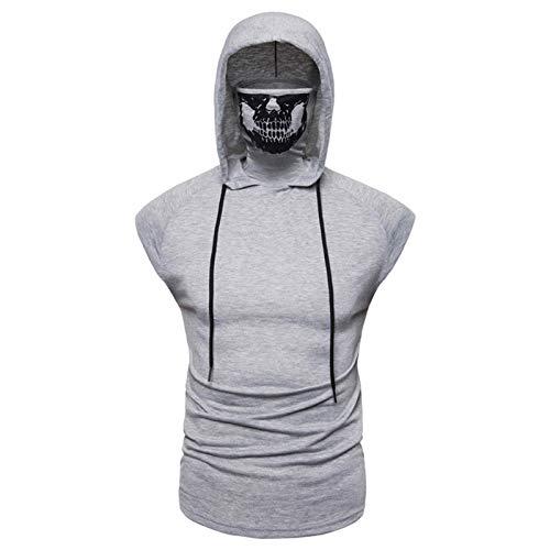 SSBZYES Camisetas para Hombre Camisetas De Manga Corta con Capucha para Hombre Ropa Deportiva Elástica Camisetas Sin Mangas para Hombre Camisetas De Manga Corta para Hombre