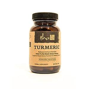 Health Shopping Isha Organic Turmeric Curcumin Supplement 990 mg — Natural Ayurvedic Herbal Cleanser
