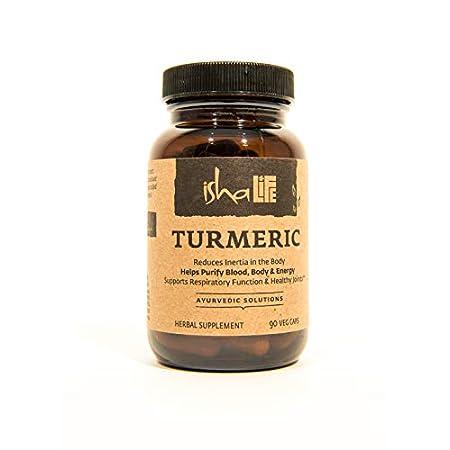 Health Shopping Isha Organic Turmeric Curcumin Supplement — Natural Ayurvedic Herbal Cleanser and