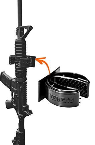 QuiverGrip UtilaGrip Single Shotgun & Rifle Gun Rack - Gun Rack - Wall Mount - Wall Organizer - Weapons Rack - Adjustable Firearm Storage - Wall Mounted Gun Holder