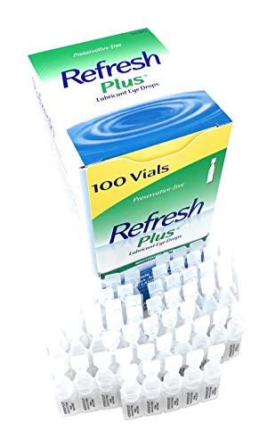 Allergan Refresh Plus Lubricant Eye Drops Single-Use Vials, Clear, (100 Count (Pack of 1))