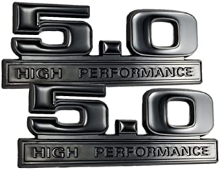 Two-Tone Black 5.0 High Performance Emblems - Pair