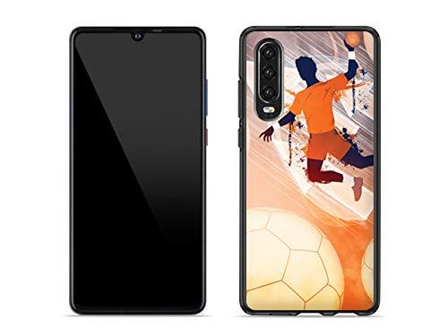 etuo Handyhülle für Huawei P30 - Hülle Fantastic Case - Handball - Hülle Schutzhülle Etui Case Cover Tasche für Handy - Hülle Schutzhülle Etui Case Cover Tasche für Handy