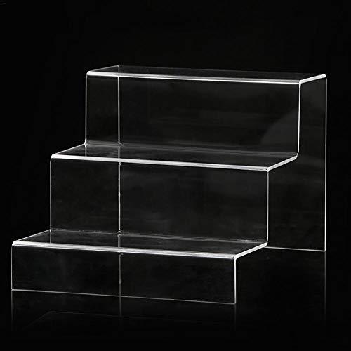 Letway Klare Acryl Display Riser, 3/2 Ebenen Klar Acryl Kunststoff Schrank Display Stand, Schmuck Display Riser Schaufenster Leuchten Astonishing