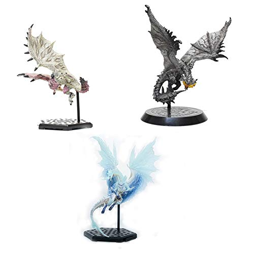 jiaming Monster Hunter World: Velkhana, Rosea Rathian Y Silver Fire Dragon Collection Traje De Tres Piezas Figura De PVC (versión No Original)