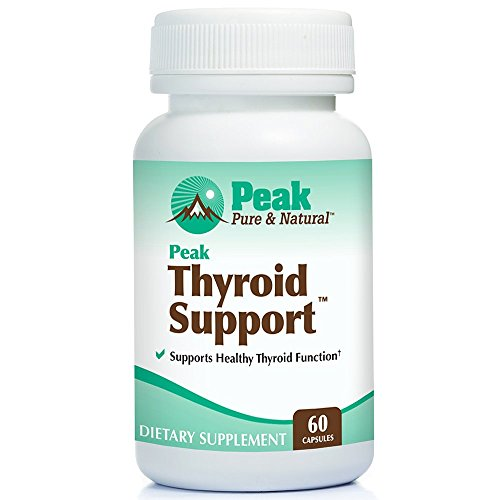 Thyroid Support by Peak Pure & Natural   Thyroid Supplement and Metabolism Booster for Weight Loss and Natural Energy   Iodine Supplement Designed for Hypothyroidism   60 Capsules
