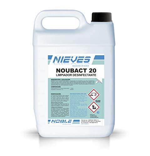 Noubact 20 Nieves Desinfectante, viricida, bactericida, fungicida, virucida, limpiador desinfectante superficies